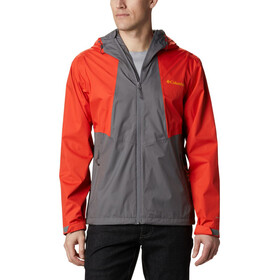 Columbia Inner Limits II Giacca Uomo, city grey/wildfire/bright gold logo